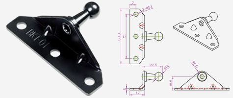 Gas Spring Brackets & Mounts