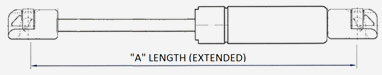 Lift Support Technologies - Gas Spring Extended Length